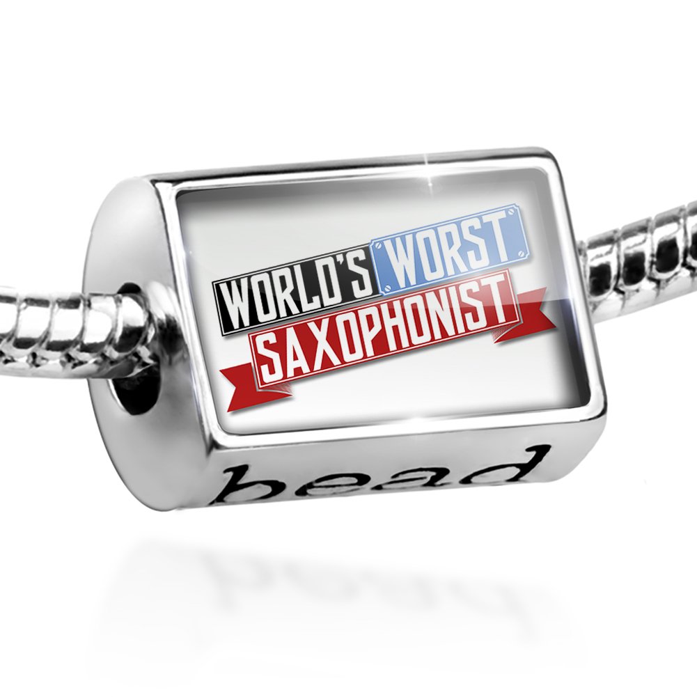 Bead Funny Worlds worst Saxophonist Charm Fits All European Bracelets