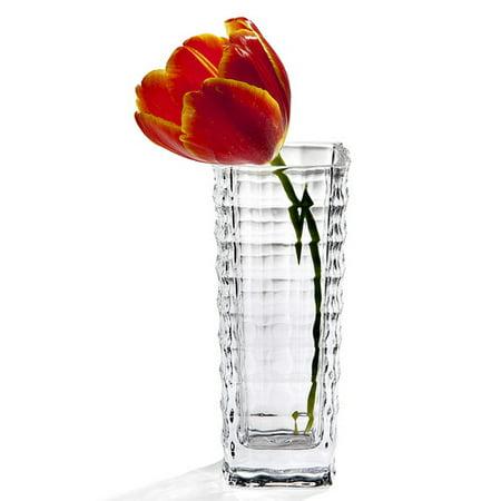 Studio Silversmiths Squares Crystal Bud Vase