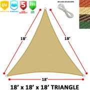 Modern Home Sail Shade Triangle (18' Sides) - Beige