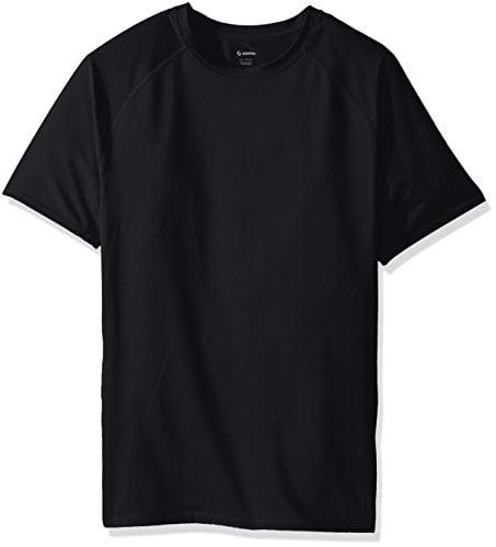 Soffe Men's Tight Fit Short Sleeve Jersey T-Shirt, Black, Large