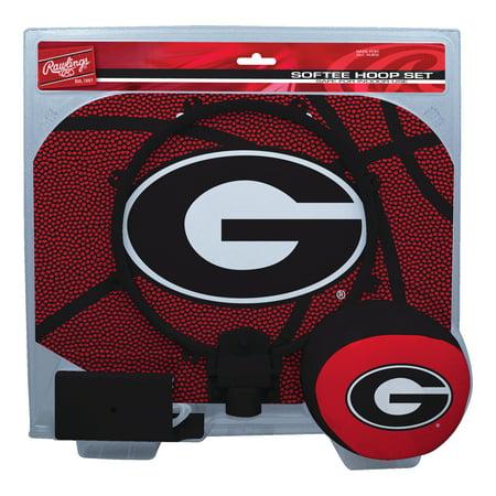 Rawlings NCAA Slam Dunk Softee Hoop Set University Of Georgia Bulldogs