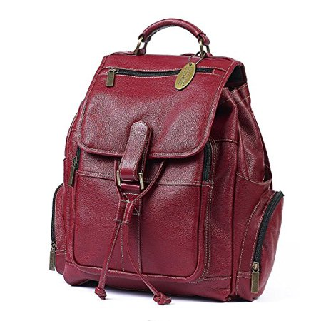 Claire Chase Uptown Leather Regular Laptop Backpack in