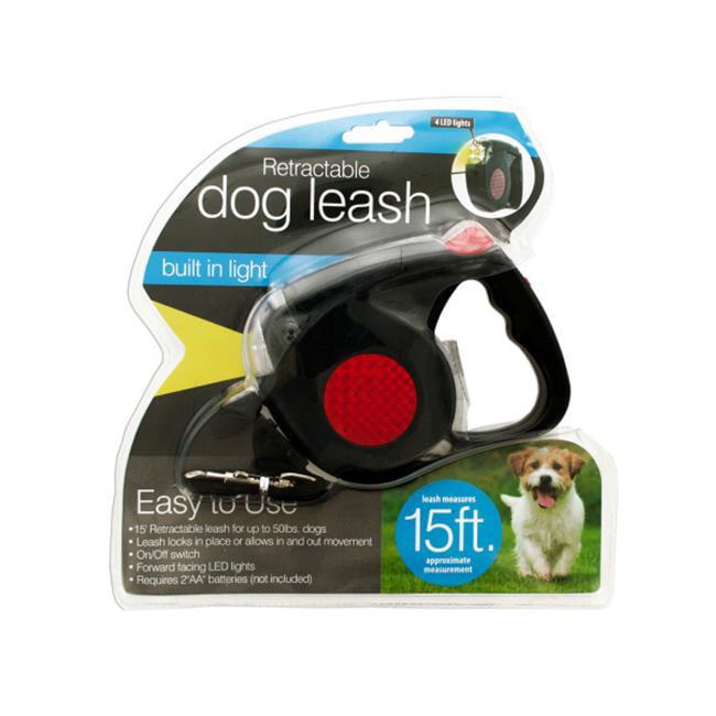 Bulk Buys OD995-2 Retractable Dog Leash With Led Light