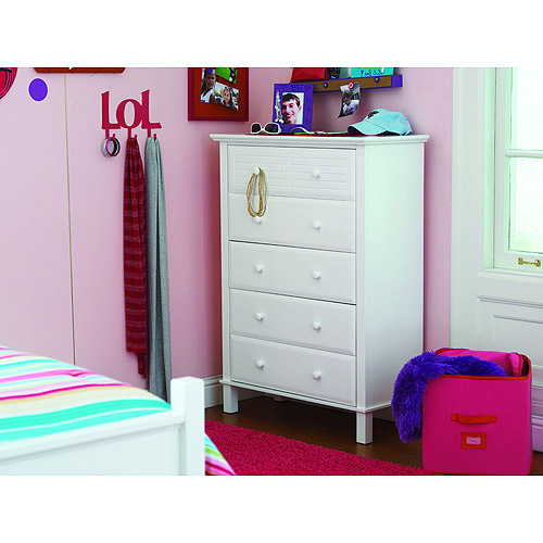 your zone zzz place to be 5-drawer chest, white