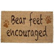 DII Bear Feet Vinyl Back Coir Doormat