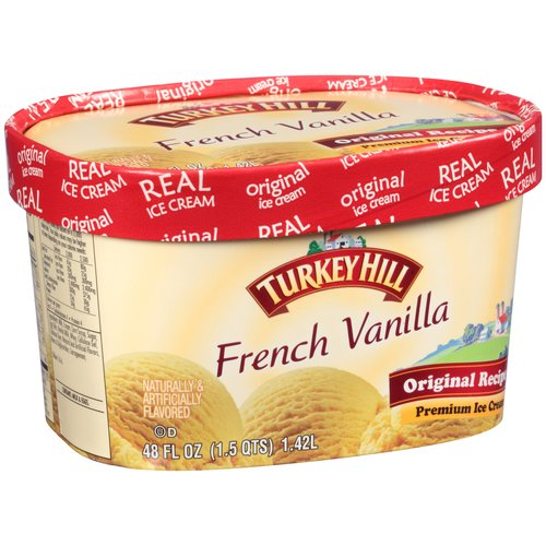 Turkey Hill French Vanilla Premium Ice Cream, 1.5 qt
