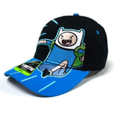 a19ed82e394 Adventure Time - Baseball Cap - Adventure Time - New Finn Black Boys Youth  Adj. Hat ba6704adv - Walmart.com