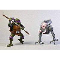 Teenage Mutant Ninja Turtles 7 Inch Scale Action Figure Cartoon Donatello Vs Krang In Bubble Walker 2 Pack