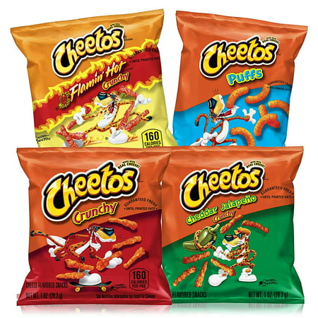 Cheetos Cheese Flavored Snacks Variety Snack Pack, 40 -