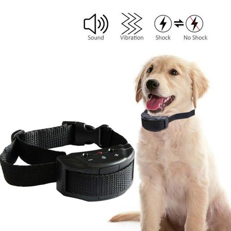 VicTsing Pet Training Collar Electric Anti Bark No Barking Tone Shock Training Collar for Small Pet Dog (Black)