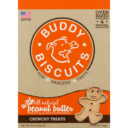 Cloud Star Buddy Biscuits Oven Baked Peanut Butter Dog Treats, 16