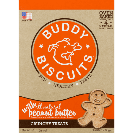 Buddy Biscuits Oven Baked Treats with Peanut Butter - 16 oz.