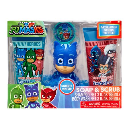 PJ Masks 4-Piece Soap and Scrub Body Wash and Shampoo Set