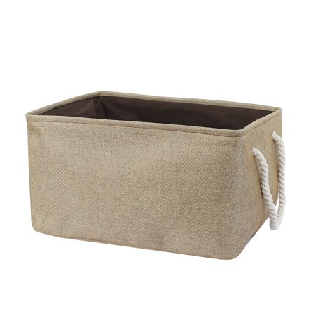 Fabric Storage Bin Basket Closet Clothes Box Container Organizer Coffee Color XL
