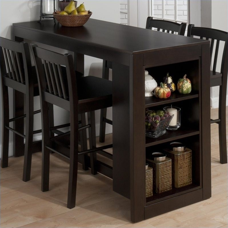 Charmant Jofran Counter Height Table With Storage In Maryland Merlot