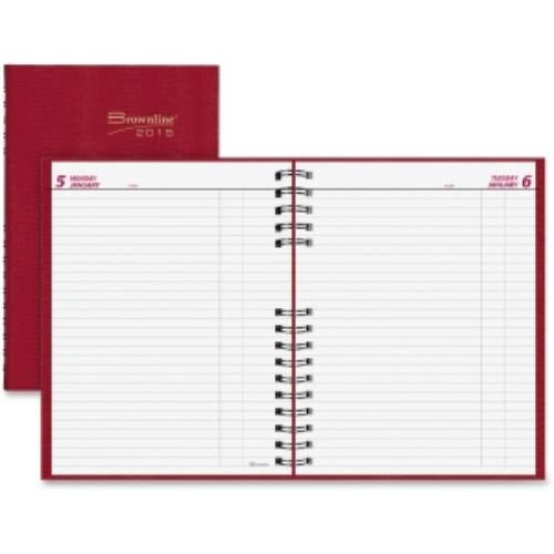 "Rediform Daily Untimed Planner - Daily - 7.87"" X 10"" - January 2016 Till December 2016 - Red (c550c-red)"