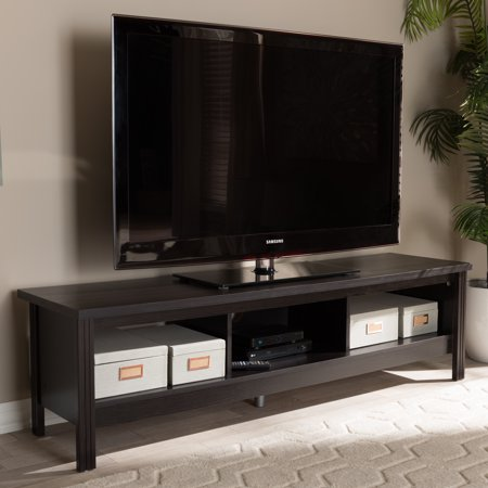 Baxton Studio Callie Modern and Contemporary Wenge Brown Finished TV Stand
