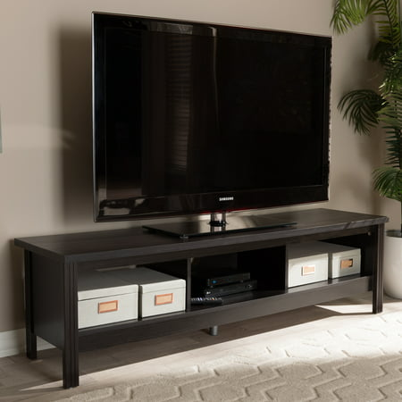 Contemporary Modern Tv Stand - Baxton Studio Callie Modern and Contemporary Wenge Brown Finished TV Stand