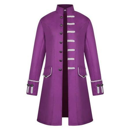 Men Frock Coat Steampunk Retro Tailcoat Jacket Gothic Coat (Steampunk Vest Men)