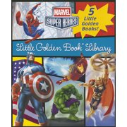 Marvel Little Golden Book Library (Marvel Super Heroes) : Spider-Man; Hulk; Iron Man; Captain America; The Avengers