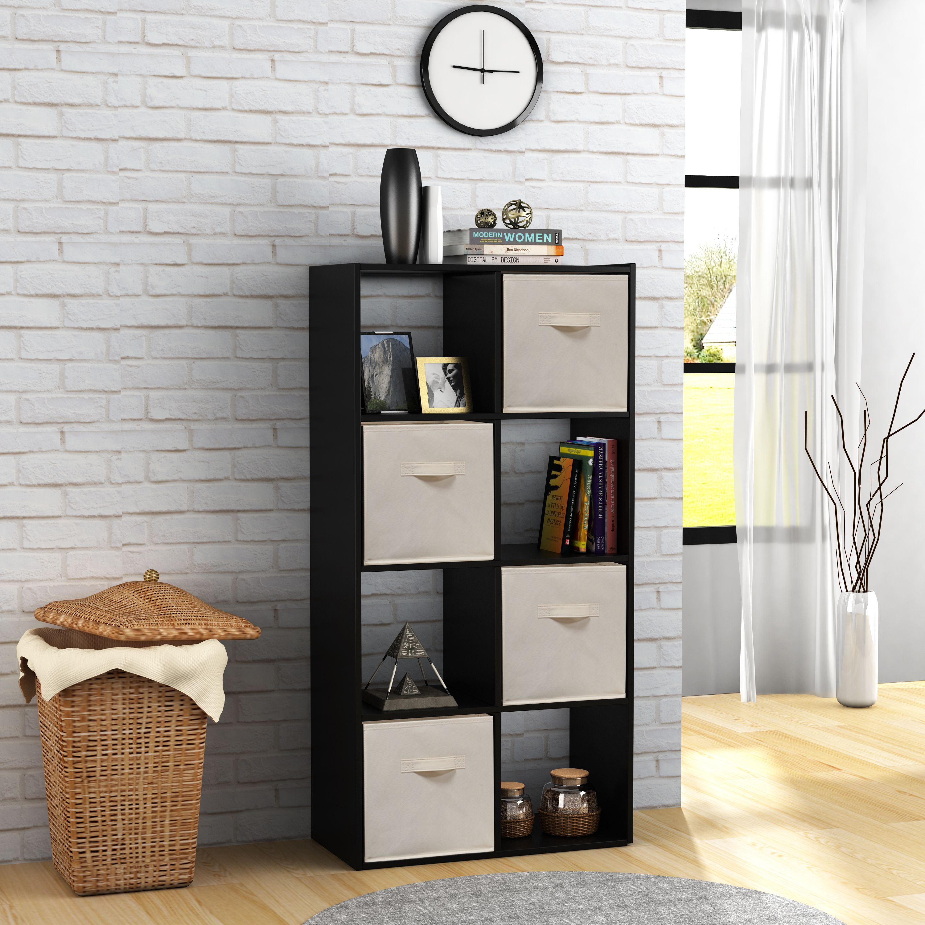 Mainstays 8 Cube Storage Organizer, Multiple Colors