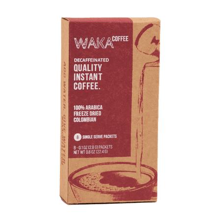 Waka Coffee Decaf 100% Columbian Arabica Medium Roast Instant Coffee Packets, 8 ct 100% Pure Instant Coffee