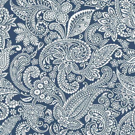 Fabric Graphics (Waverly Duck Graphic Paisley Navy)