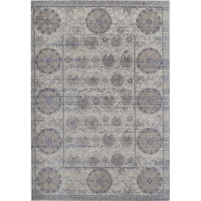 Rugs America 25516 Beverly Gray Abstract Rug, 7 ft.  10 inch x 9 ft.  10 inch