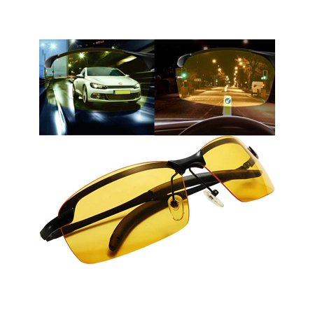 87f33e1cee Polarized Night Vision Glasses Outdoor Driving Sunglasses UV Goggles Yellow  Lens Black Frame - Walmart.com