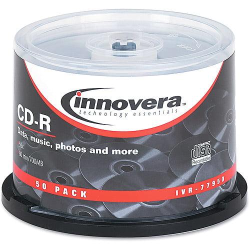 Innovera CD-R Discs, 700MB/80min, 52x, Silver