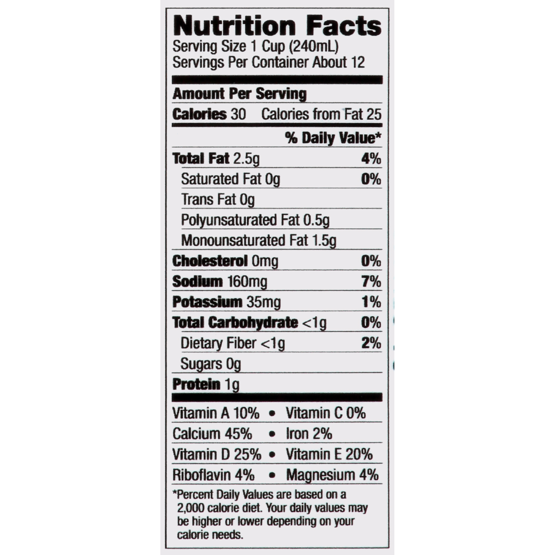 Whole Foods Coconut Milk Nutrition Facts