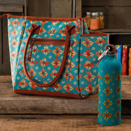 The Pioneer Woman Lunch Tote with Water Bottle, Multiple Colors