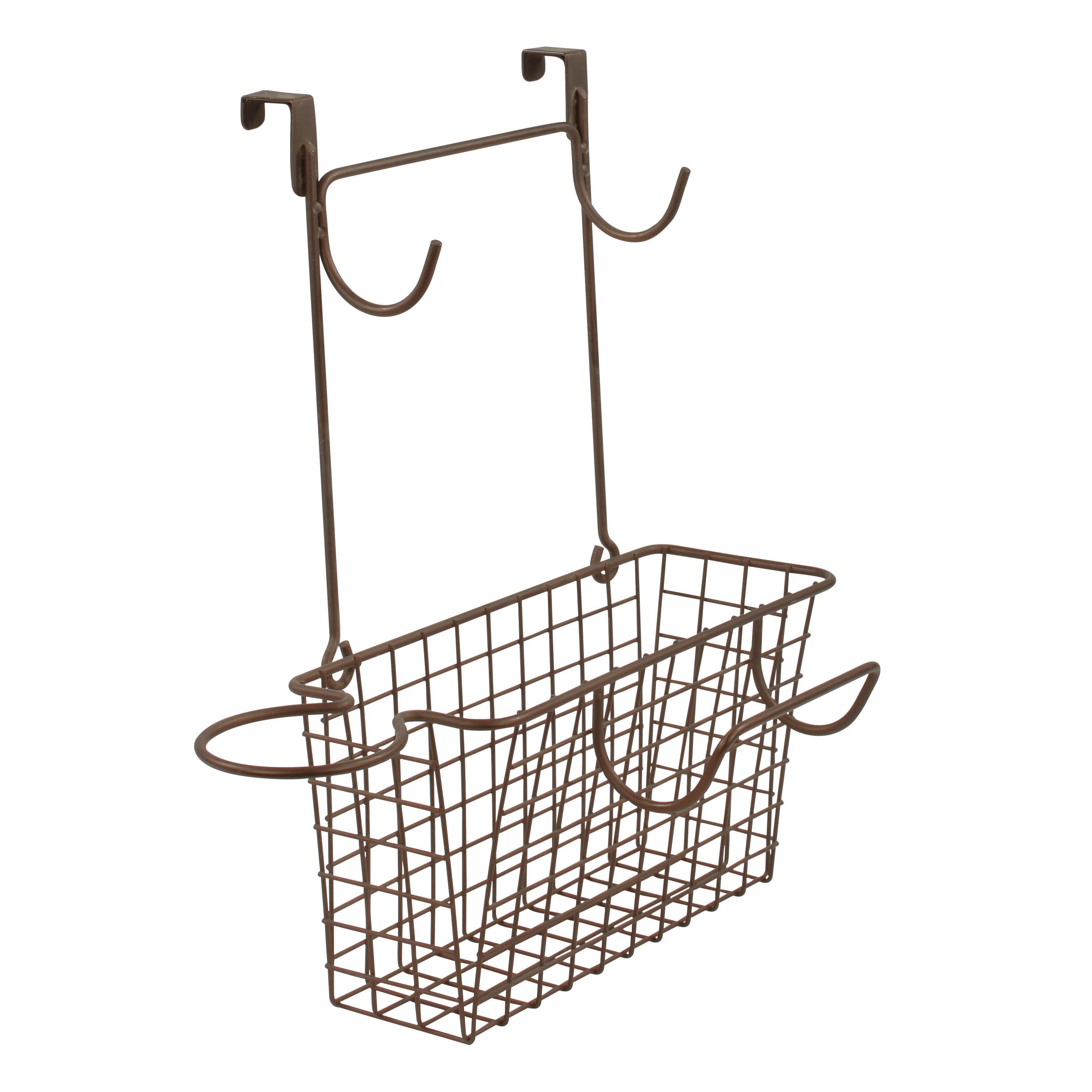 Over the Cabinet Spectrum Diversified Grid Storage Basket Medium Bronze