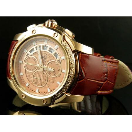 Model Aqua Master (Aqua Master Aqua Master Rose Gold Case Brown Leather Chronograph Diamond Quartz Watch)