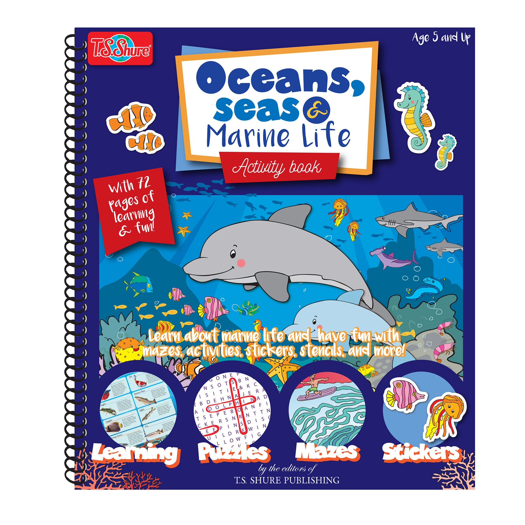 T.S. Shure - Ocean, Sea and Marine Life Activity Book