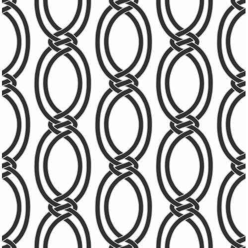 Brewster 2625-21834 Infinity Black Geometric Stripe Wallpaper