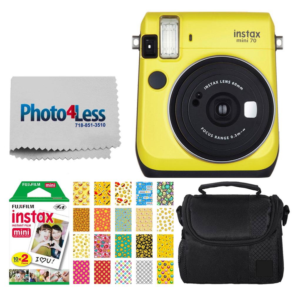 FujiFilm instax Mini 70 Instant Film Camera (Canary Yellow) + FujiFilm Instax Mini Twin Pack Instant Film + Small... by Fujifilm