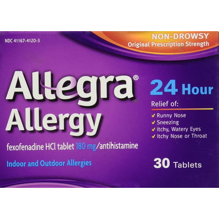 Allegra Allergy 24 Hour , 30 CT (Pack of 1)
