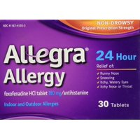 Allegra 24 Hour Allergy Tablets, 30 Ct