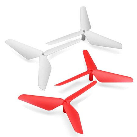 New 4Pc 3 Blade Propeller For Syma X5 X5c X5sc X5sw Red   White
