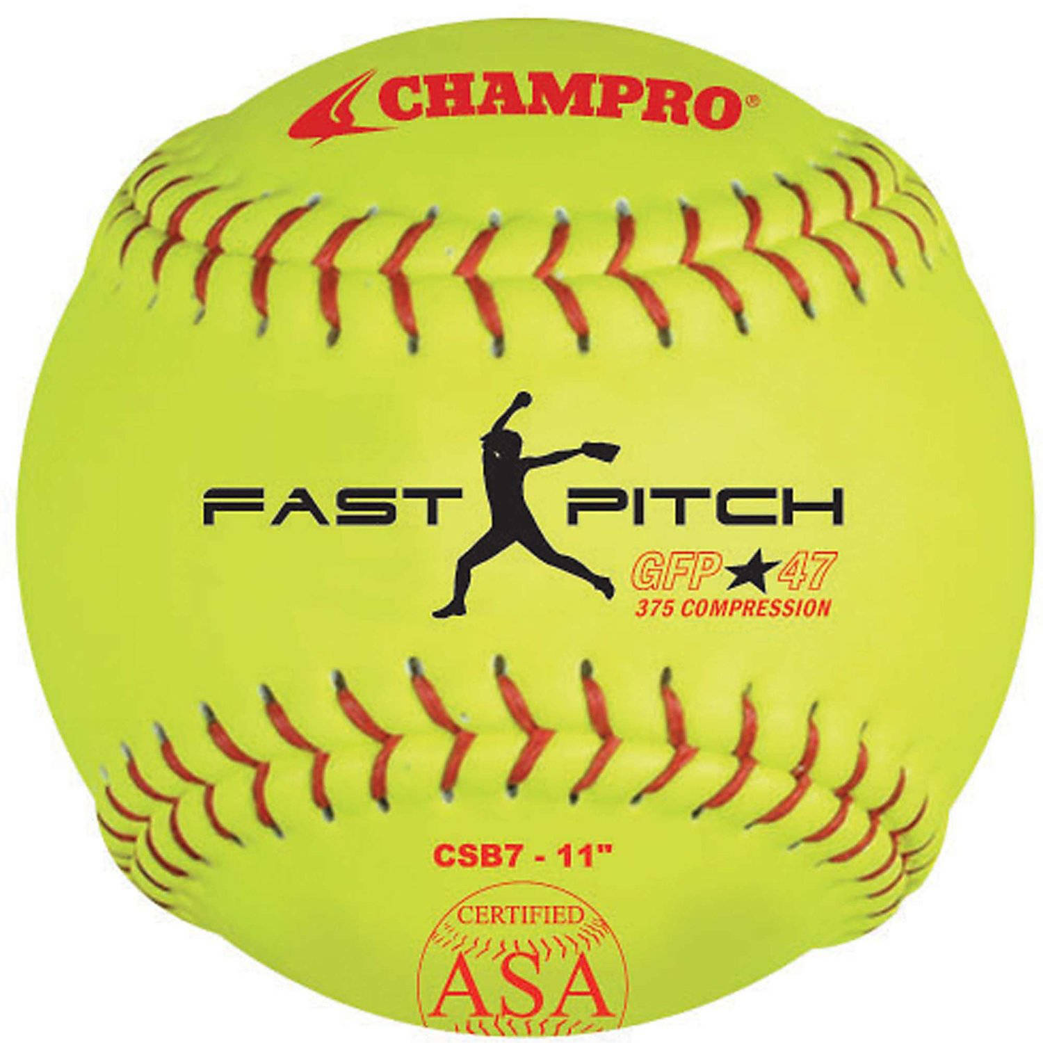 "Champro ASA 11"" Fast Pitch Softballs, 1 Dozen"