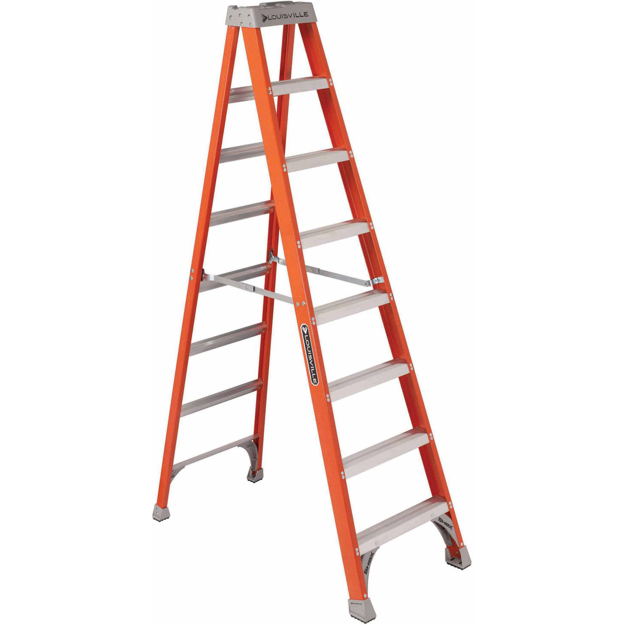 Louisville Ladder 8' Fiberglass Step Ladder, 300 lbs Duty Rated Type IA