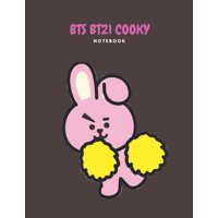 Bts Bt21 Cooky Notebook: Back to School Wide Ruled Composition Journal for Grade School Girls and Boys (Paperback)