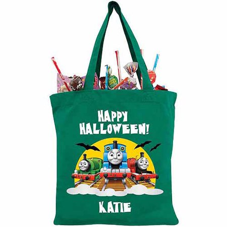 Personalized Thomas & Friends Happy Halloween! Green Trick-or-Treat Bag