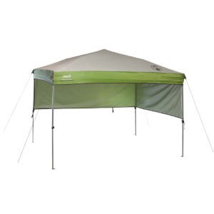 Coleman 7' x 5' Staight Leg Instant Canopy Sunwall Shelter, Green (35 sq. ft Coverage) Accessory Only by COLEMAN