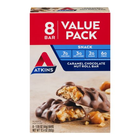 Atkins Sauce (Atkins Caramel Chocolate Nut Roll Bar, 1.55oz, 8-pack (Snack Bar))