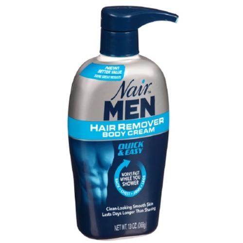Nair For Men Hair Removal Body Cream 13 oz (Pack of 4)