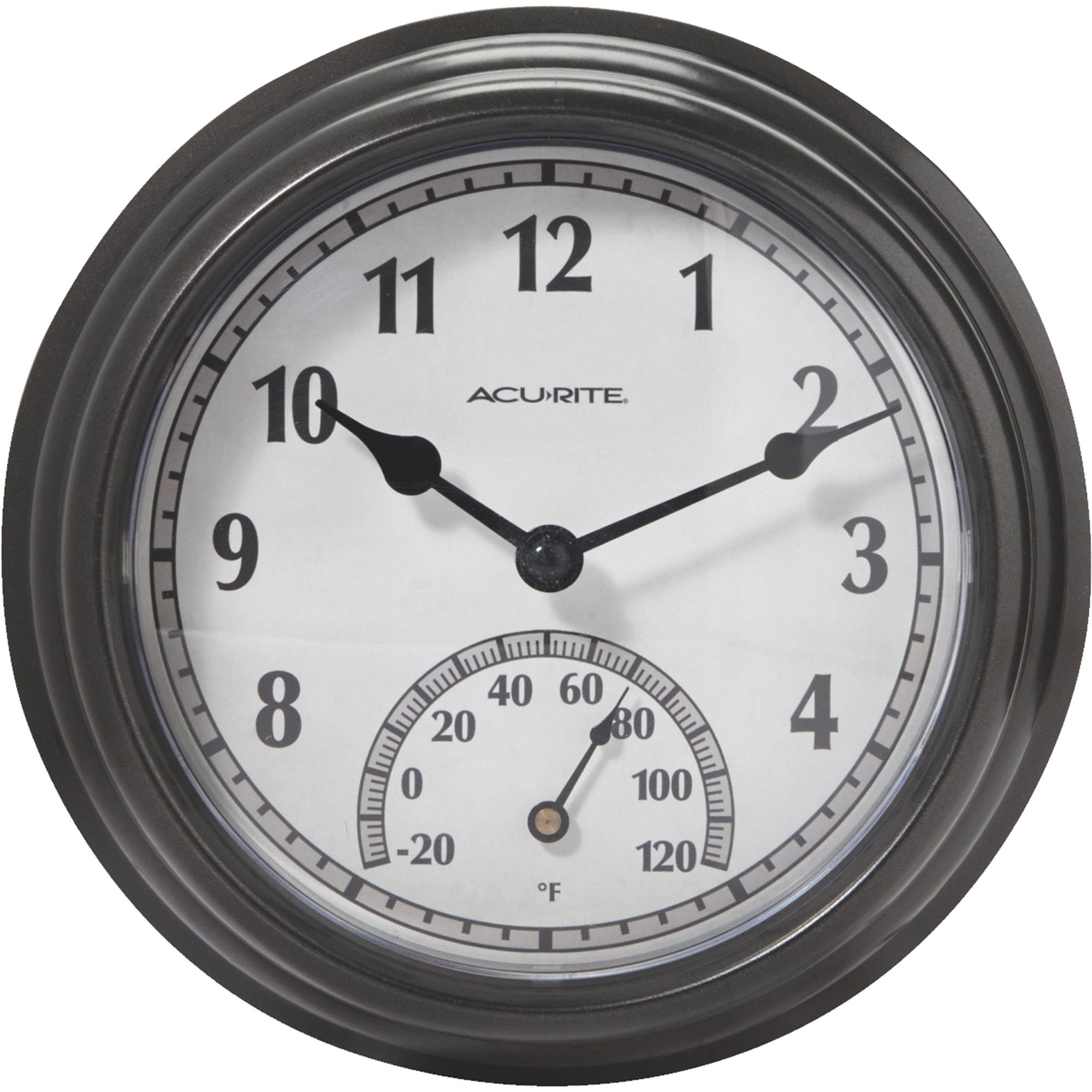 Acu-Rite Indoor Outdoor Clock Thermometer
