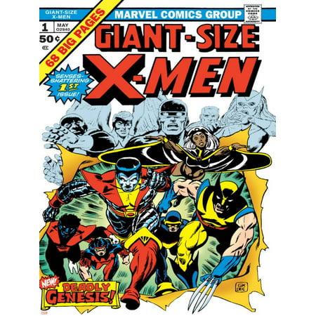 Marvel Comics Retro: The X-Men Comic Book Cover No.1 Print Wall Art