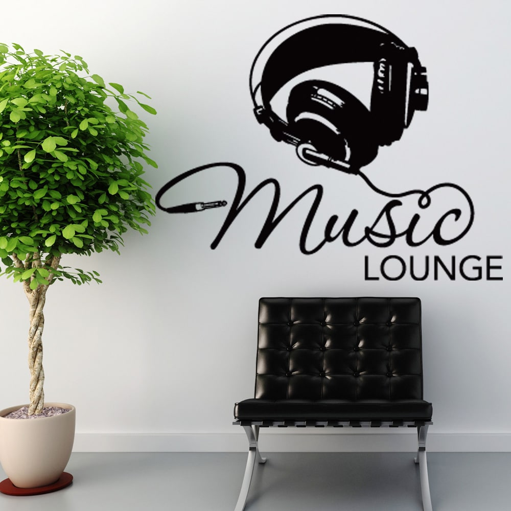 Style and Apply Music Lounge Vinyl Wall Art Small